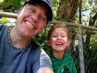 Mark Wilson with son Hayden